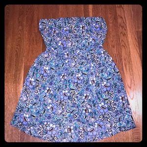 Express floral print tube top dress